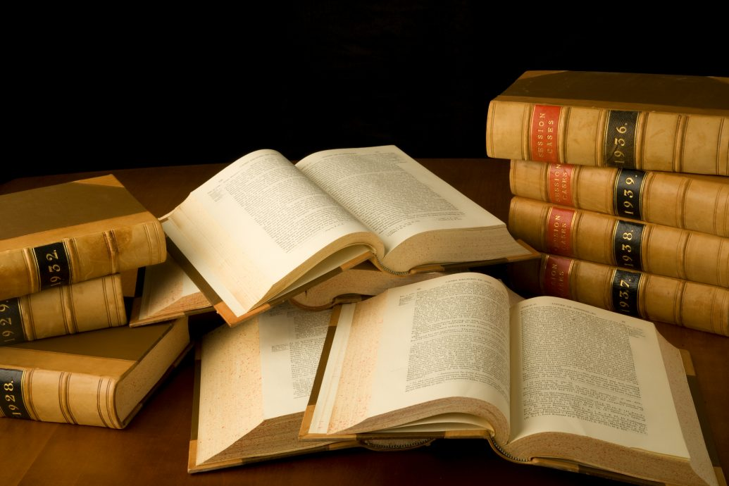 shutterstock_24533827 (scattered law books)
