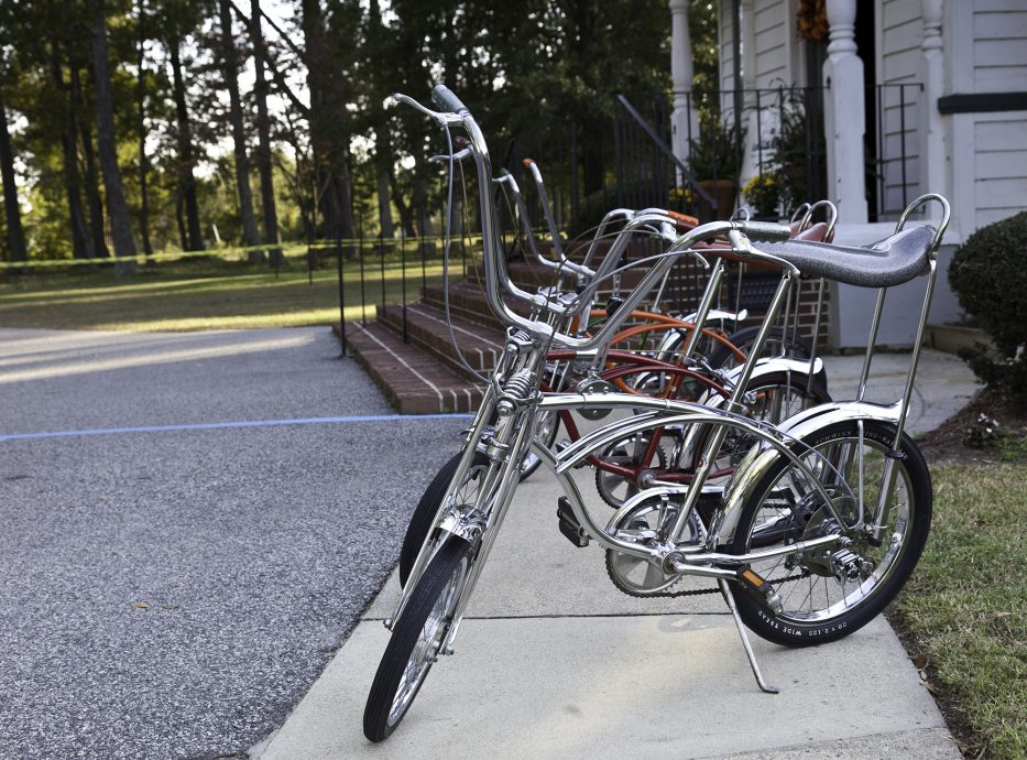 Row of Vintage Schwinn Stingray Bikes