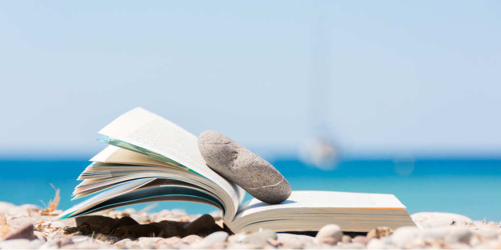 summer reading with rock bookmark