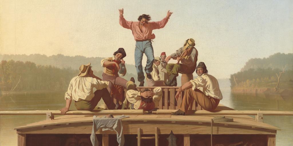 George Caleb Bingham-flatboat