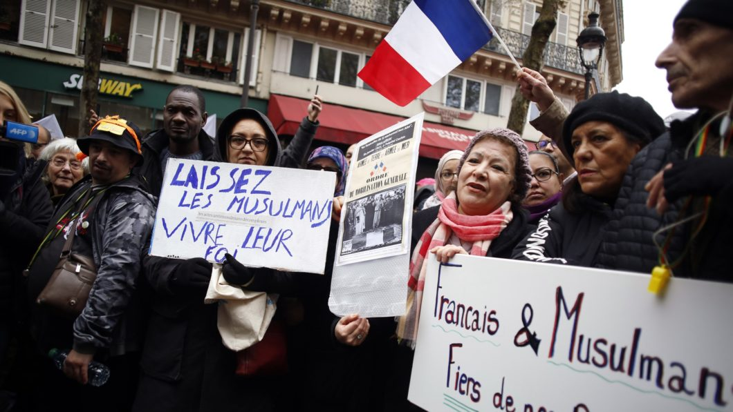 French Muslim Protest