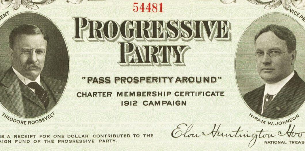 progressive party member certificate