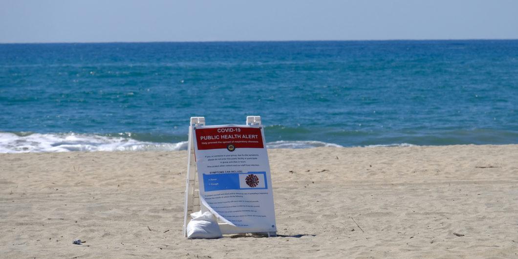COVID beach