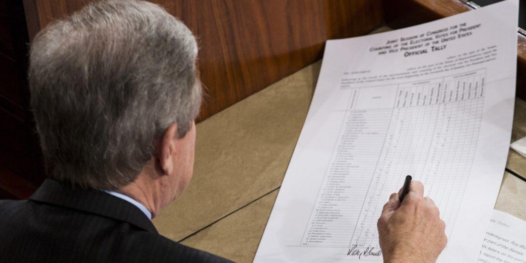 Electoral college vote tally