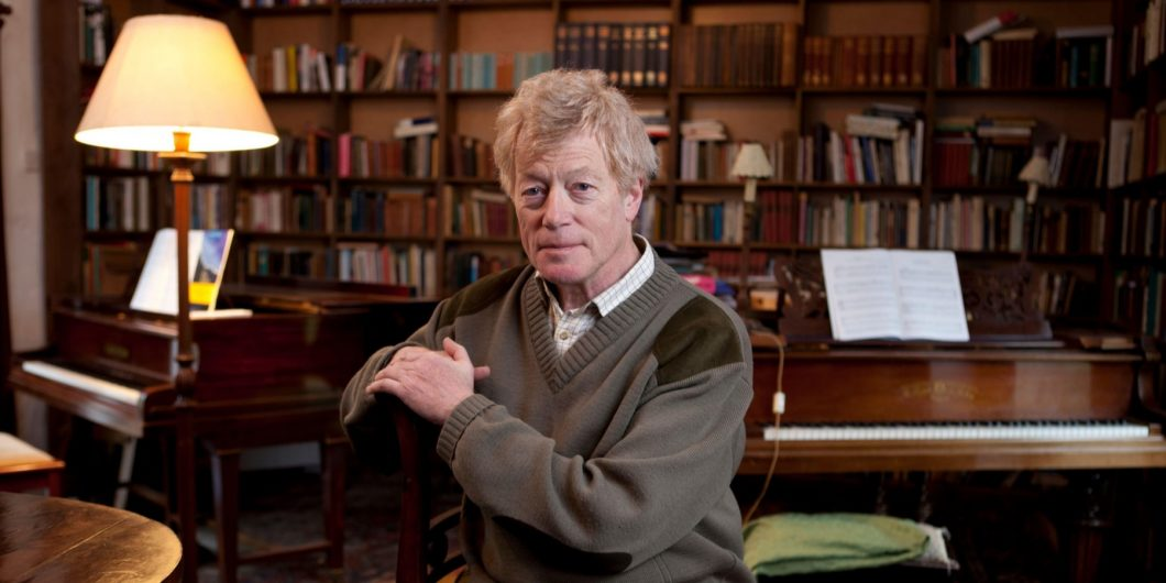Scruton in library