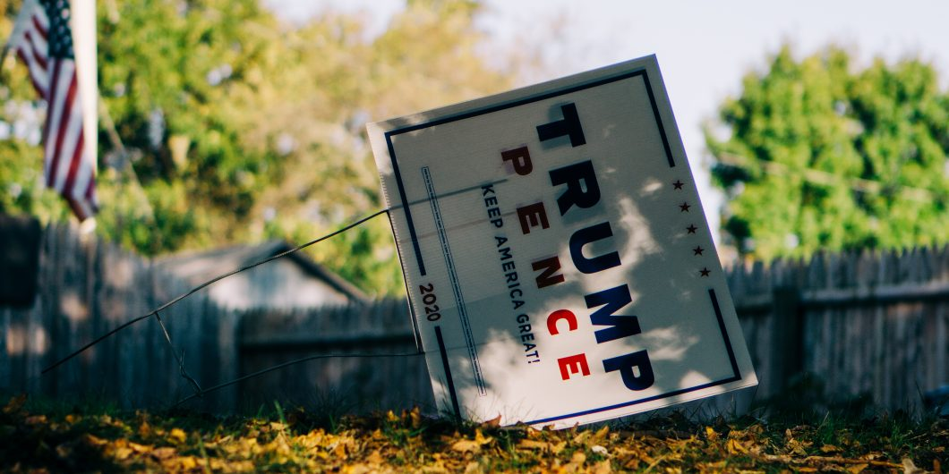 Discarded Trump Sign