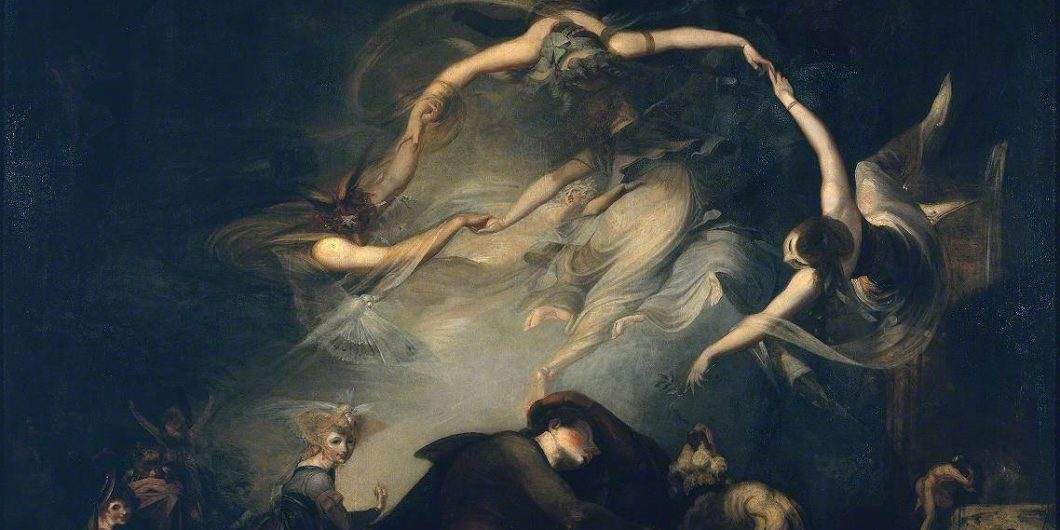 Fuseli, Henry, 1741-1825; The Shepherd's Dream, from 'Paradise Lost'