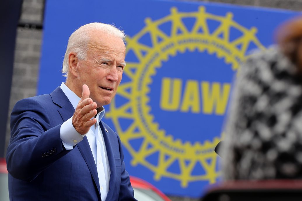 Joe Biden Campaigns In Warren, Michigan