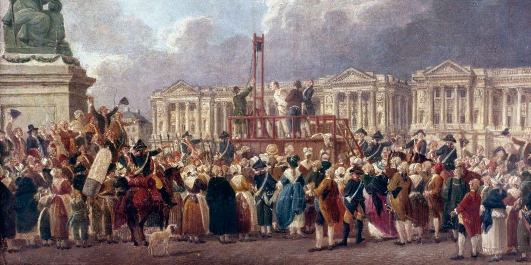 guillotine-execution-de-la-Revolution-canvas-paper-1793