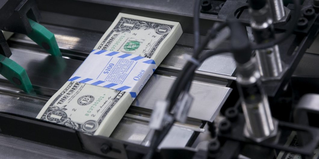 DC: US One Dollar Bill Production at Bureau of Engraving and Printing