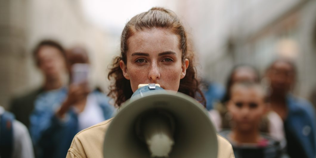 megaphone protest
