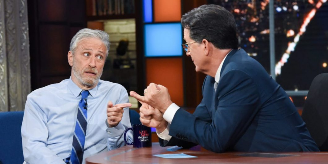 Stewart and Colbert